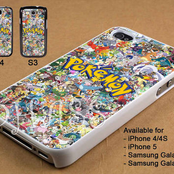 Pokemon All Character Design for iPhone 4/4s/5 Case, Samsung Galaxy S3/S4 Case