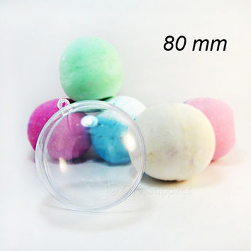 1 Large Round Bath Bomb Mold 3.15 inches / 80mm