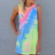 Neon Tie Dye T-Shirt Dress