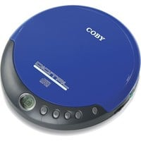 Coby CXCD109BLU Personal CD Player with Stereo Headphones, Blue