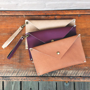 MADE TO ORDER • Adams Trading Co. Handmade Non-Leather Clutch or Wristlet