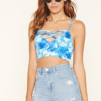 Strappy-Caged Cropped Cami