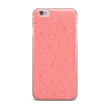 "Michelle Drew ""Wanderlust Pink Skies"" Coral Geometric iPhone Case"