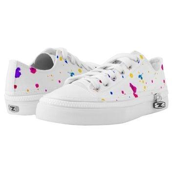 Splatter Abstract Print Shoes Printed Shoes