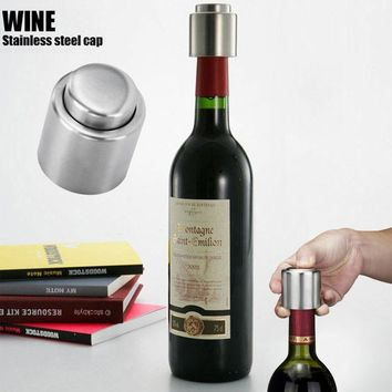 Stainless Steel Vacuum Sealed Red Wine Storage Bottle Stopper Plug Bottle Cap Hot sale