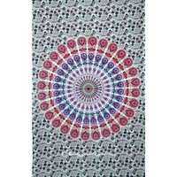 Buy Beautiful Pink Tie Dye Hippie Bohemian Tapestry Wall Hanging Online