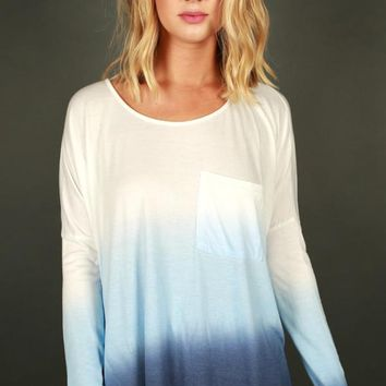 California Girl Ombre Top in Blue