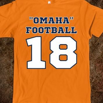 Omaha Football Broncos Number 18 Football T Shirt