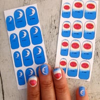 Loteria Nail Decals LA LUNA ONLY