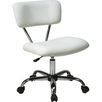 Vista Office Task Chair, White Vinyl