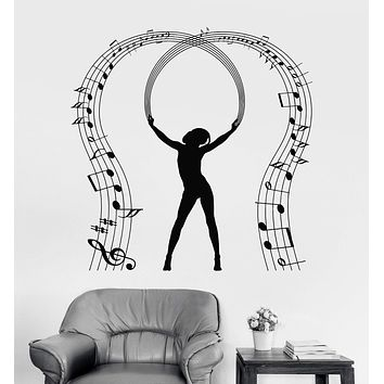 Vinyl Wall Decal Music Lover Notes Dancing Musician Stickers Unique Gift (1005ig)