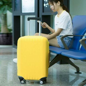 DCCKU62 Luggage Protective Cover For 18 to 30 inch Trolley suitcase Elastic Dust Bags Case Travel Accessories Supplies Gear Item Product