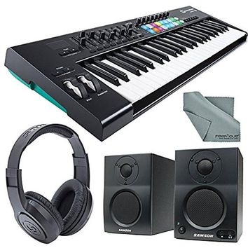 Novation Launchkey MK2 49-Key USB MIDI Keyboard Controller & Stereo Pair Bluetooth Monitor Bundle