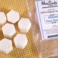 ALMOND, PEAR & HONEY melts, Soy Wax Tarts