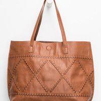 Whipstitch Reversible Faux Leather Tote | Tote Bags