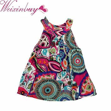 WEIXINBUY 2017 Flower Girls Toddler Princess Dress Kids Baby Pageant Party Floral Dress Clothes