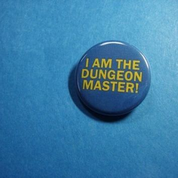 DUNGEON MASTER Dungeons and Dragons Pinback Button