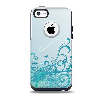 The Escaping Butterfly Floral Skin for the iPhone 5c OtterBox Commuter Case