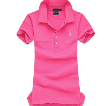 NEW POLO RALPH LAUREN SHIRT WOMEN SHORT SLEEVE T-SHIRT SIZE: S-XL-11