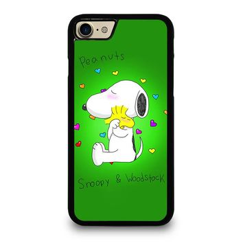 PEANUTS SNOOPY AND WOODSTOCK iPhone 4/4S 5/5S/SE 5C 6/6S 7 8 Plus X Case