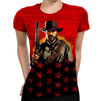 Red Dead Redemption Forward Womens T-Shirt