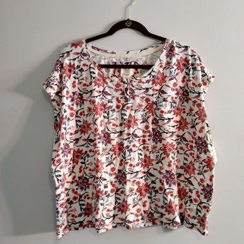 Women's Lucky Brand Floral Tee NWT