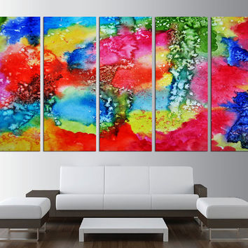Abstract canvas print, large wall art print, abstract watercolor wall Art, large canvas print, extra large wall art, Art canvas print t525
