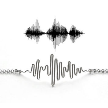 Sound Wave Necklace - Soundwave Necklace, Soundwave Jewelry, Personalized Gift, Proposal Idea, Will You Marry Me