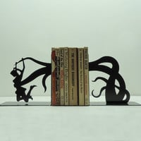 Tentacle Attack Metal Art Bookends  Free USA by KnobCreekMetalArts