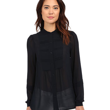 MICHAEL Michael Kors Pin Tuck Top