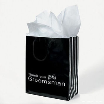 6 PC. GROOMSMEN GIFT BAGS THANK YOU