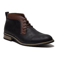 Ferro Aldo Men's 806028 Two Tone Chukka Lace Up Ankle Dress Boots