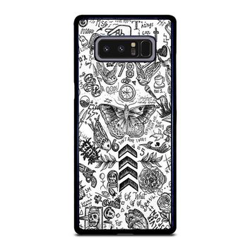 ONE DIRECTION TATTOOS Samsung Galaxy Note 8 Case