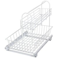 Knape & Vogt 15.5 in. x 12.13 in. x 18.75 in. Multi-Use Basket with Handle Accessory Basket-USB11-W at The Home Depot