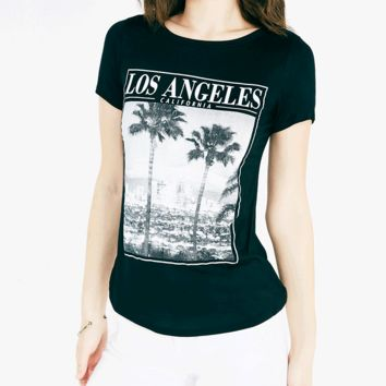 Los Angeles Cityscape Graphic Tee | Wet Seal