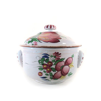 Antique French Soup Tureen, Faienceries de l'Est, Les Islettes, Luneville, St Clément, Earthenware, 18th