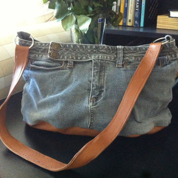 Leather Jeans Handbag