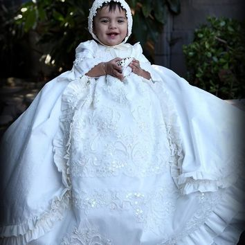 """William and Kate"" christening gown-heirloom baptism-royal christening gown"