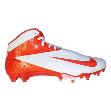 Nike Vapor Talon Elite 3/4 TD Men's Molded Cleats (13, White/Orange Flash)
