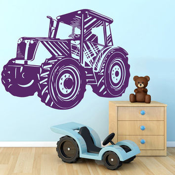 Tractor Vinyl Decals Wall Sticker Art Design Kids Children Nursery Room Nice Picture Home Decor Interior ki588