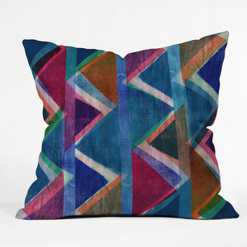 Sarah Bagshaw Fabric Zig Zags Outdoor Throw Pillow