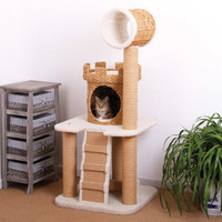 PetPals Eco Friendly Castle Cat Tower - 24x24x56