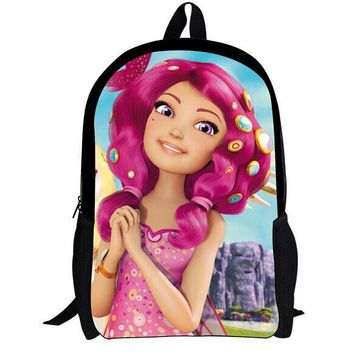 one piece MIA and ME cartoon school backpack for children,princess sofia the first schoolbag backpack for teenage girls kids