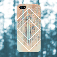 White Geometric Shapes x Deep Fall Forest Phone Case for iPhone 6 6 Plus iPhone 5 5s 5c 4 4s Samsung Galaxy s6 s5 s4 & s3 and Note 5 4 3 2