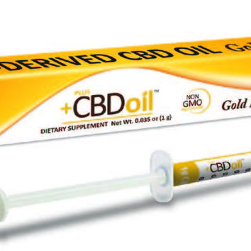 PlusCBD Gold Hemp Oil Applicator 240mg CBD | 4 Servings @ 60mg