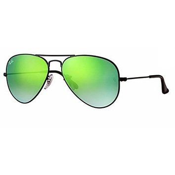 Cheap Ray Ban RB3025 002/4J 58M Shiny Black/Green Gradient Mirror Aviator outlet
