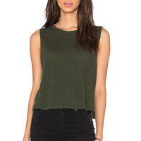 LNA Muscle Cape Tank in Army
