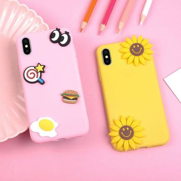 Lovely Candy Color DIY Cute 3D fruit food Phone Case