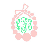 Monogram Pearl Necklace Decal Add Personality to Christmas Gifts, Great personal Gift, Gift Wrap Option, Personalize So Many Things