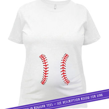 Funny Pregnancy Shirt Pregnancy Announcement T Shirt Maternity Clothing Pregnant TShirt Expecting Mom Gift Baseball Ladies Tee MAT-540